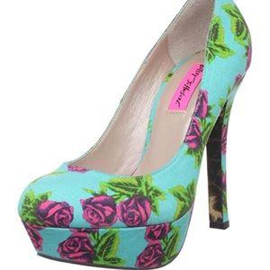 Betsey Johnson Diskko Platform Heels Tin Can Rose